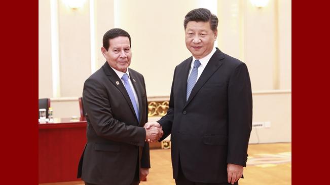 習近平會見巴西副總統莫朗