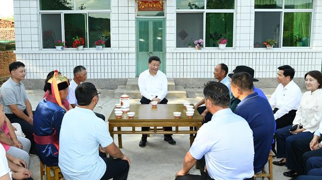 """習近平在內蒙古考察並指導開展""""不忘初心、牢記使命""""主題教育"""