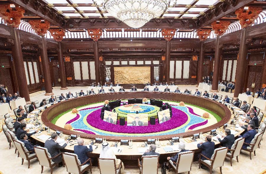 """2、""""一帶一路""""國際合作高峰論壇等主場外交展示開放合作共贏"""
