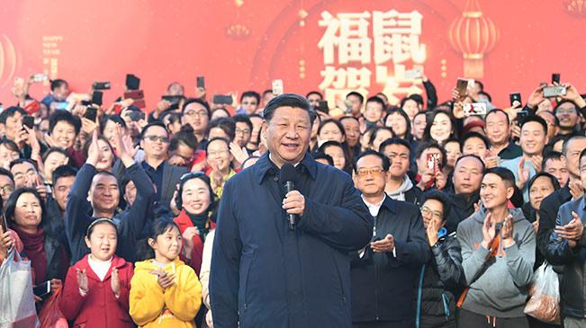 習近平考察昆明新春購物博覽會 向全國各族人民致以新春祝福