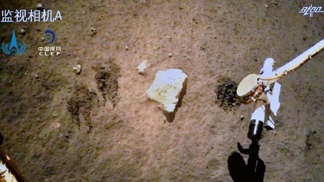 嫦娥五號如何挖土?它發回了一段自拍視頻