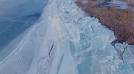 我國最大內陸淡水湖出現推冰奇觀