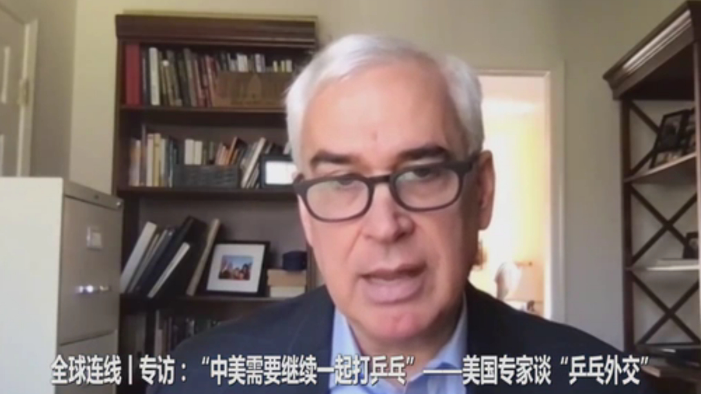 """全球連線丨專訪:""""中美需要繼續一起打乒乓"""""""