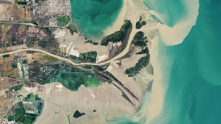 """跟隨衛星,感受總書記考察的""""大河之洲"""""""
