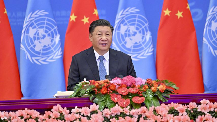 習近平出席中國恢復聯合國合法席位50周年紀念會議並發表重要講話