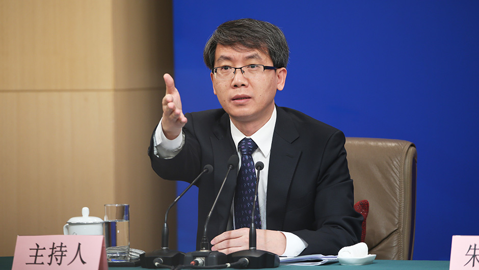 十三屆全國人大二次會議新聞中心副主任、主持人韓林宏