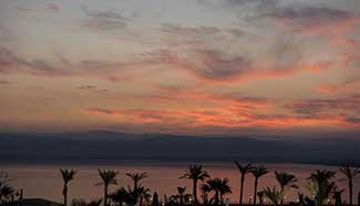 In pics: Sunset scenery of Dead Sea