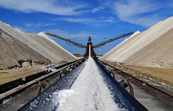 Sea salt collected in N China's Hebei