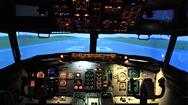 感受飛機模擬駕駛倉