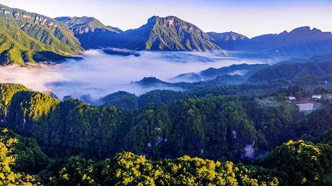 """無人機之旅 神農架雲海動靜皆美 愛上""""地球之肺""""的航拍在這兒"""