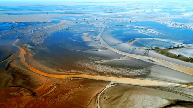 無人機之旅 全國首個灘涂保護區 愛上鹽城的航拍在這兒