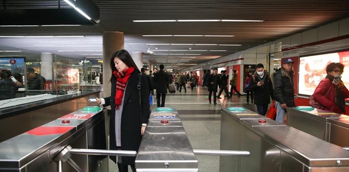 上海地鐵20日起可掃碼進出站