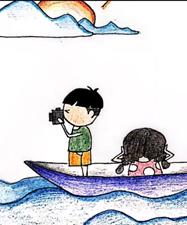 萌萌噠的防溺水手繪