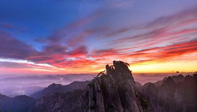 彩雲之徽:紅霞千縷帶斜陽