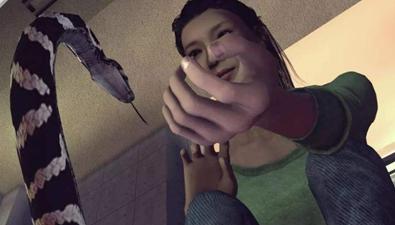 女子網購毒蛇被咬傷