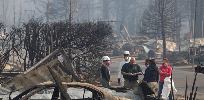 美國加州山火致近80人死亡 逾千人失蹤