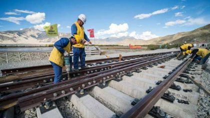 西藏:川藏鐵路拉林段有序施工