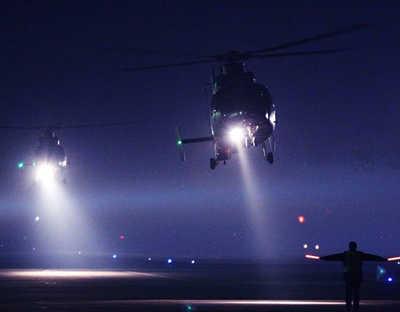 空軍第十一批女飛行學員開展夜航訓練