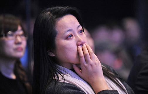現場觀眾眼含熱淚