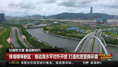 珠海橫琴新區:推動高水平對外開放 打造優質營商環境