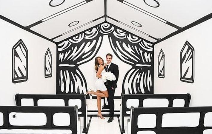 美卡通風格婚禮小教堂吸引眼球
