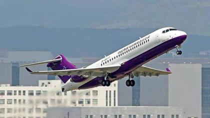 雲南:國産客機ARJ21首次高原演示飛行