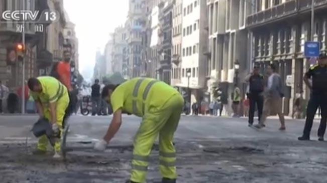西班牙:加區暴力示威遊行造成嚴重經濟損失