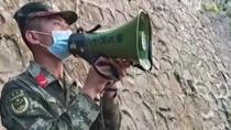 四川西昌:山火蔓延 武警官兵緊急轉移300多名群眾