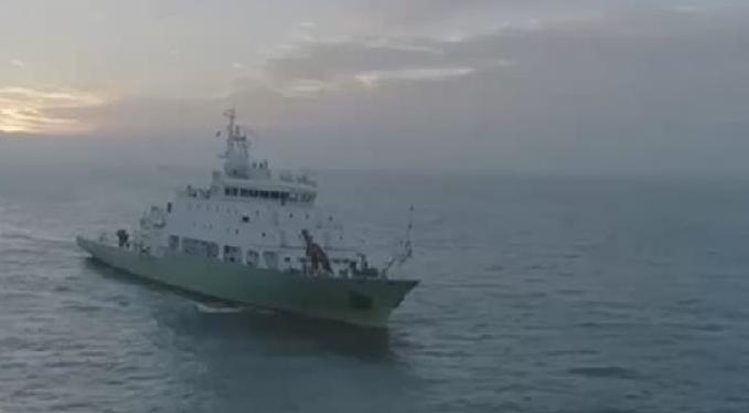 """海洋科考重器""""實驗6""""科考船首航"""