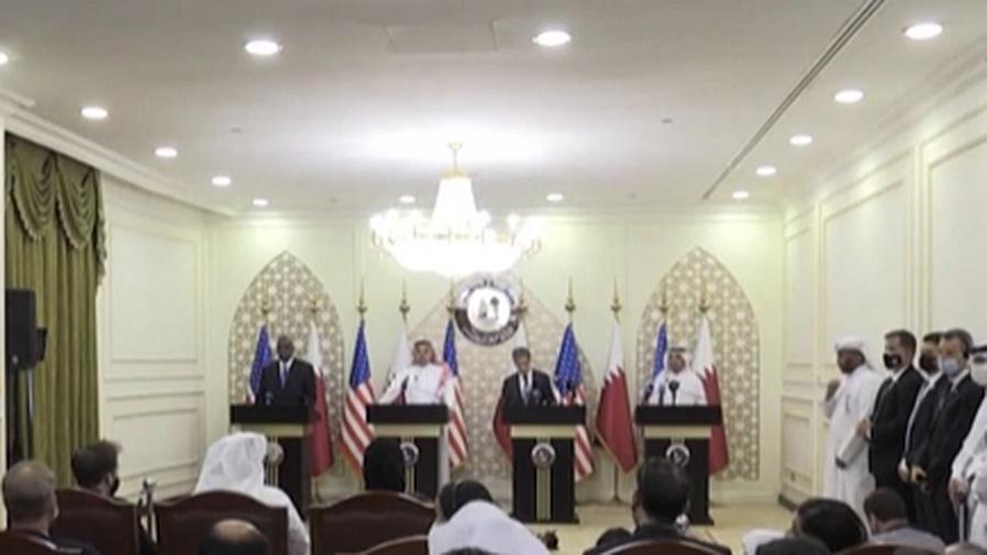 """卡塔爾與美國就阿富汗問題舉行""""2+2""""會議"""