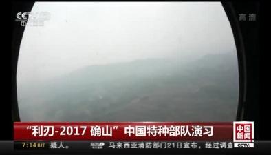 """""""利刃-2017 確山""""中國特種部隊演習"""
