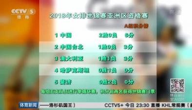中國隊取得2018年女排世預賽兩連勝