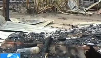 印尼:一非法開採油井起火