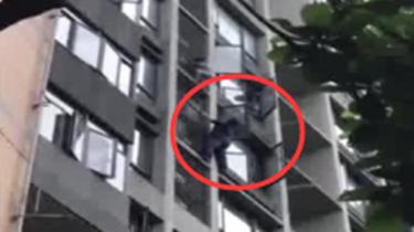 熊孩子膽真肥 竟從8樓徒手爬下7樓