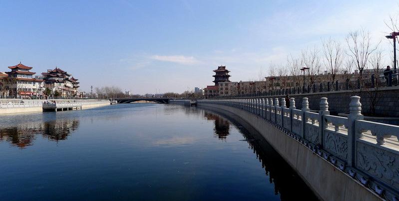 空中俯瞰運河古郡滄州