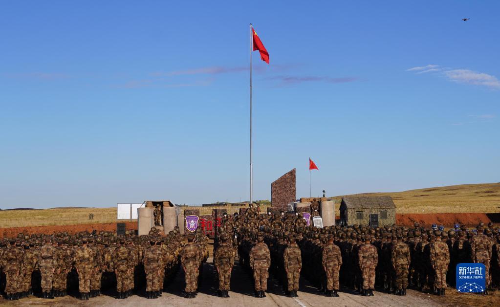 """""""和平使命-2021""""上合组织联合军演""""中国营""""举行开"""