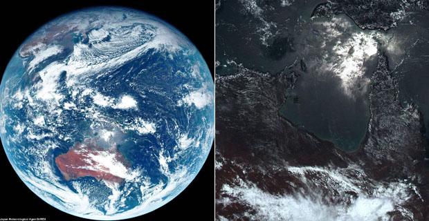 日本卫星拍摄地球最真实的颜色