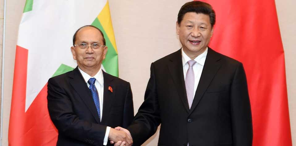 習近平會見緬甸總統吳登盛