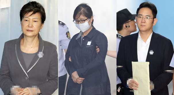 韓國:樸槿惠繼續出庭面無表情 崔順實李在鎔同日受審