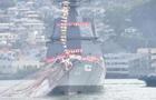 """綜述:第二艘""""朝日""""級驅逐艦下水 日本強化海軍力量"""