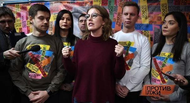 俄女主持宣布在葉卡捷琳堡成立總統競選辦公室