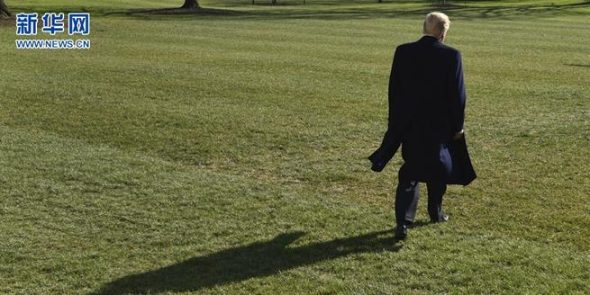 美國總統特朗普離開白宮 獨自前往戴維營過周末