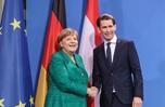 默克爾會見奧地利總理庫爾茨