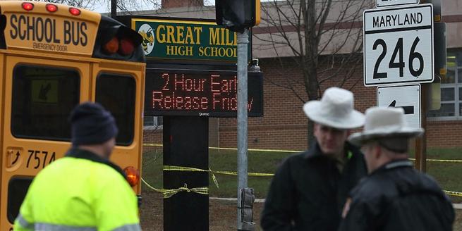 美馬裏蘭州高中發生槍擊事件 具體傷亡情況不詳