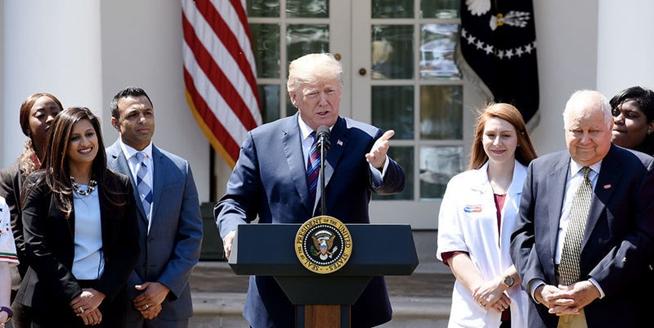 美總統特朗普發表減稅演講