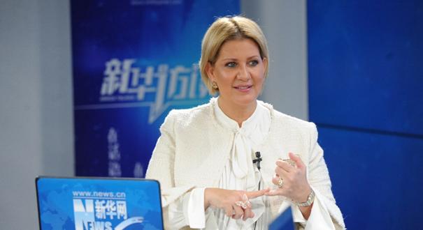 巴拿馬總統夫人洛雷納·卡斯蒂略接受新華網專訪