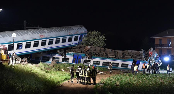 意大利發生火車與貨車相撞事故 致2人死亡