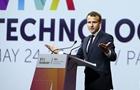 法國總統馬克龍出席創新科技展