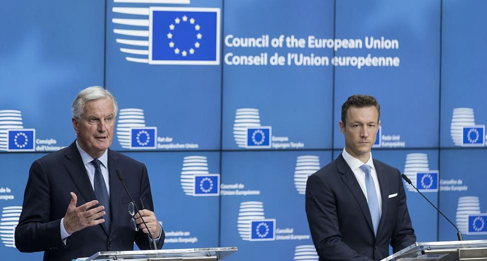 歐洲理事會召開總務理事會會議 歐盟首席談判代表出席發布會