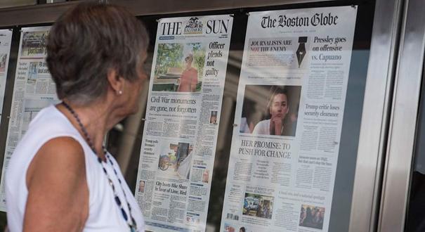 350多家美國媒體發表社論 同批特朗普
